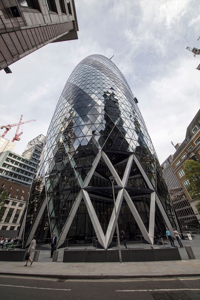 Picture of 30 St Mary Axe, Fl 28/29, City of London Office Space for available in The City