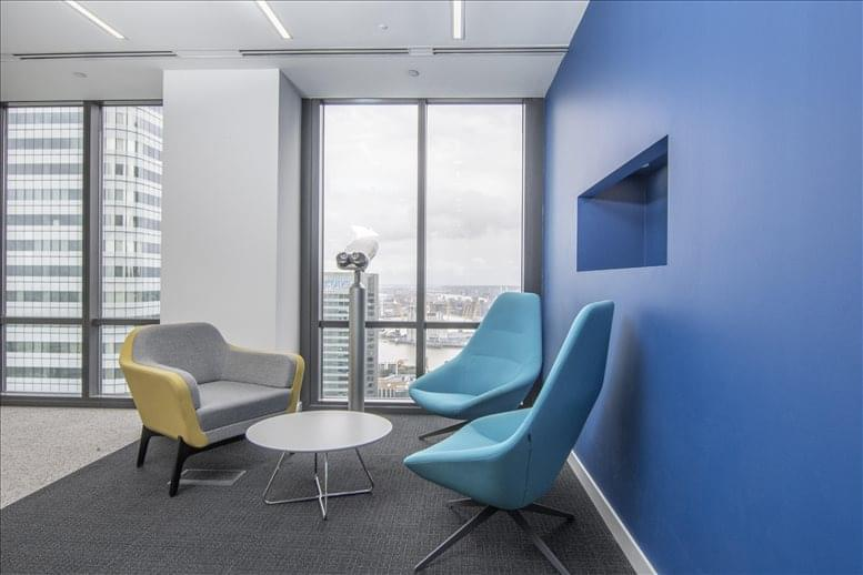 Canary Wharf Office Space for Rent on One Canada Square, 37th Fl