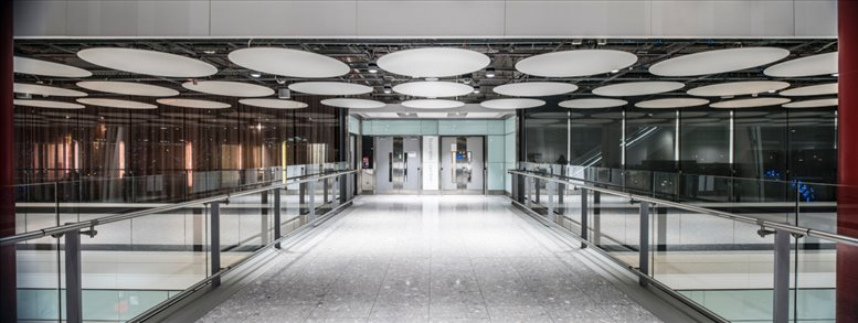 Heathrow Airport Terminal 5, Arrivals Concourse, Western Perimeter Road Office Space Heathrow
