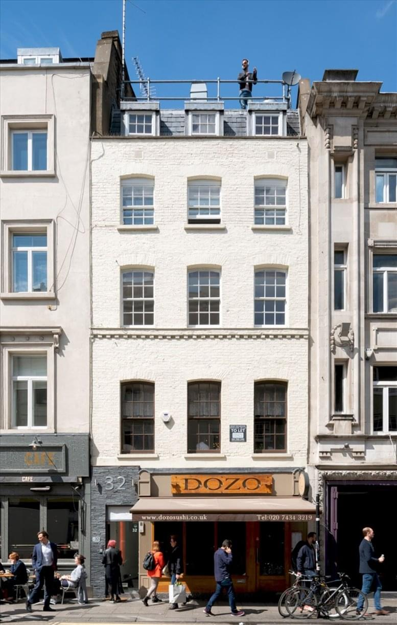 32 Old Compton St available for companies in Charing Cross