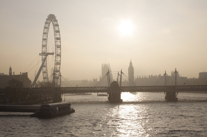 Southbank London with the London Eye @officeinlondon